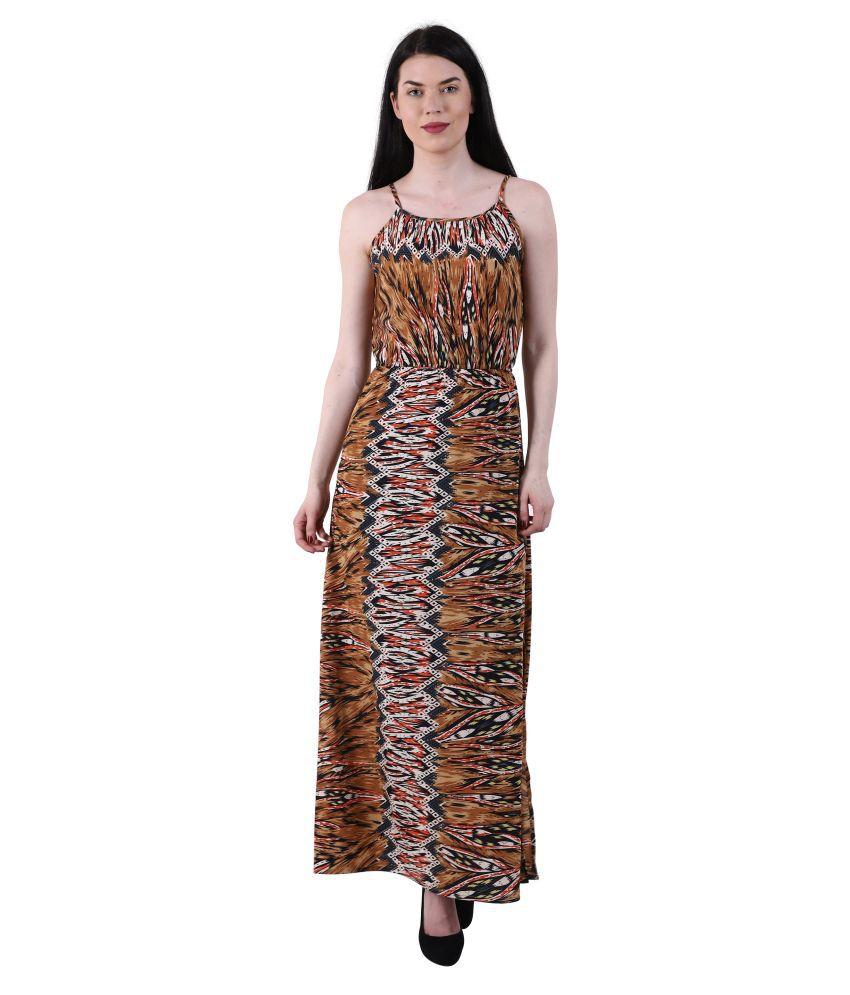 GALWIZ Crepe Multi Color A- line Dress