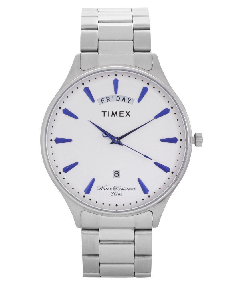 Timex Analog Silver Dial Men #039;s Watch TWEG16903