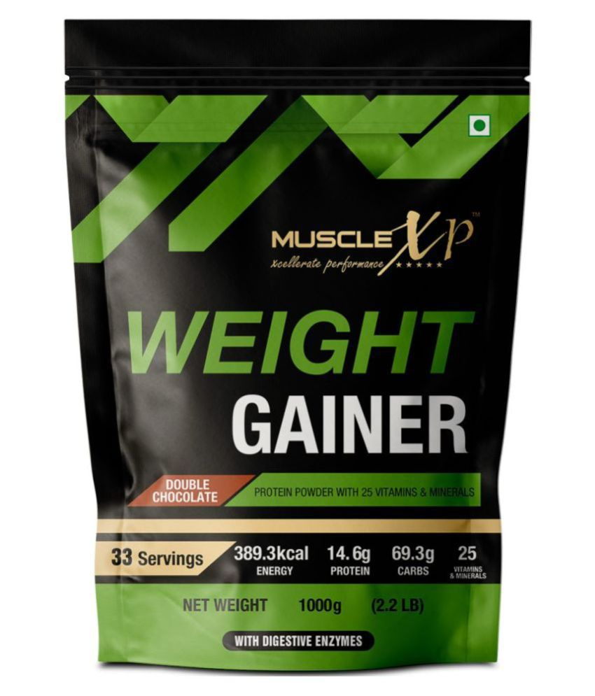 MuscleXP Weight Gainer - With 25 Vitamins and Minerals 1 kg Chocolate