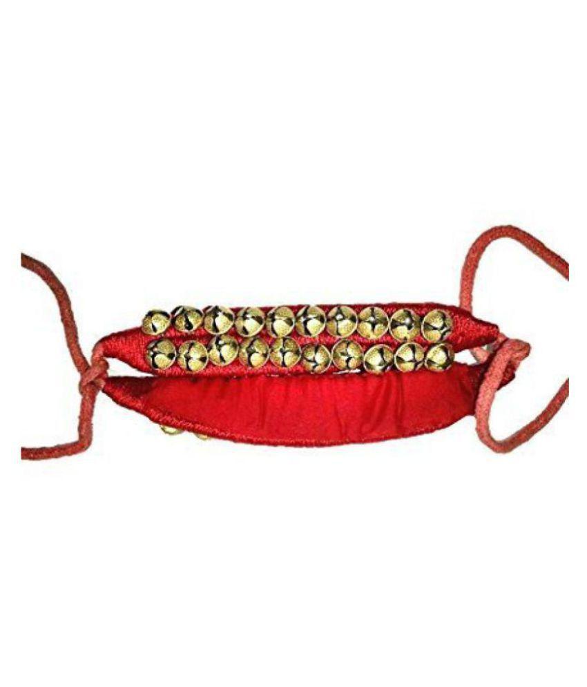 Kaku Fancy Dresses Ghungroo for Kids State Dnace/Western Dance -Copper, Free Size, for Boys & Girls
