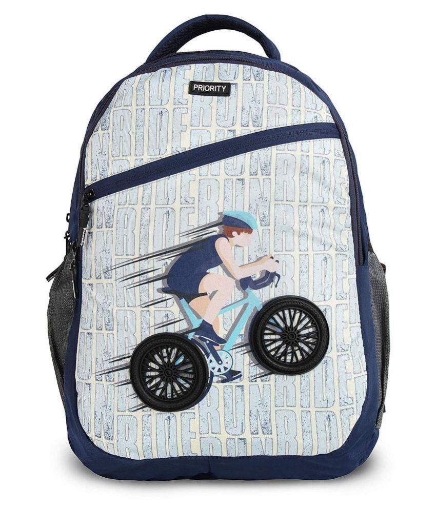 Priority Blue School Bag for Boys & Girls