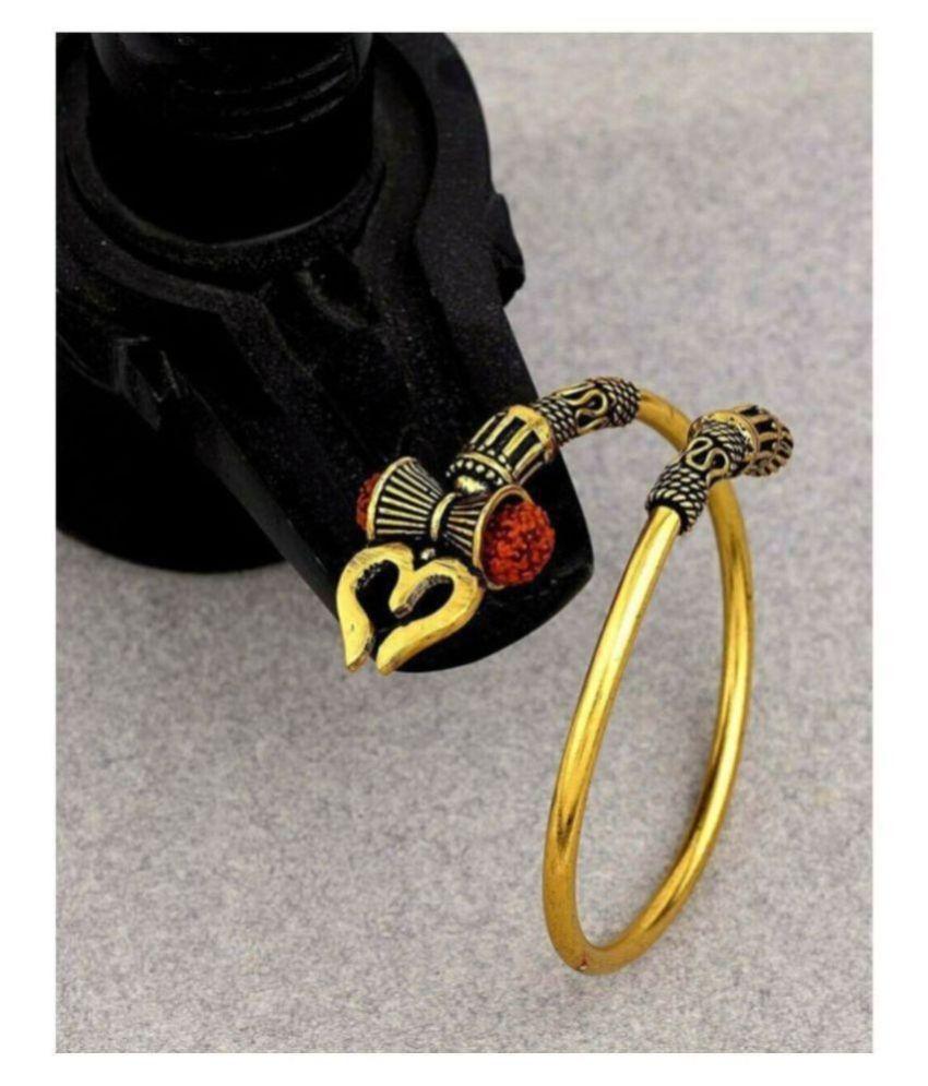PAYSTORE Adjustable Trishul Damroo Rudraksha Bahubali Kada Bracelet Mahakal For Men Boys Girls