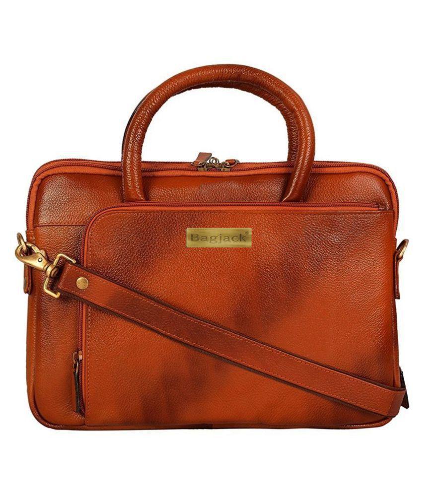 Bag Jack Centauri Equi-Scuto Tan Leather Office Bag
