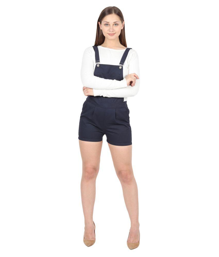 FineCreations Blue Cotton Jumpsuit