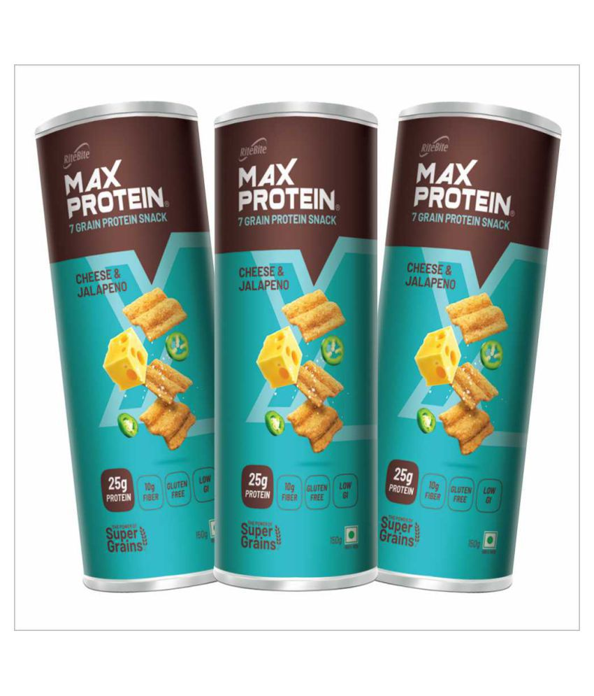 Rite Bite Max Protein Cheese Jal Vegetable Chips 450 g Pack of 3