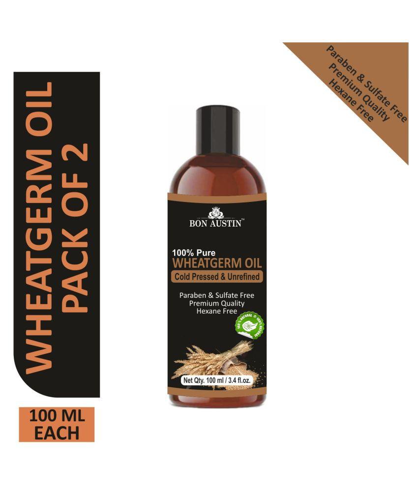 Bon Austin  Premium Wheatgerm oil - Cold Pressed & Unrefined Combo pack of 2 bottles of 100 ml(200 ml)