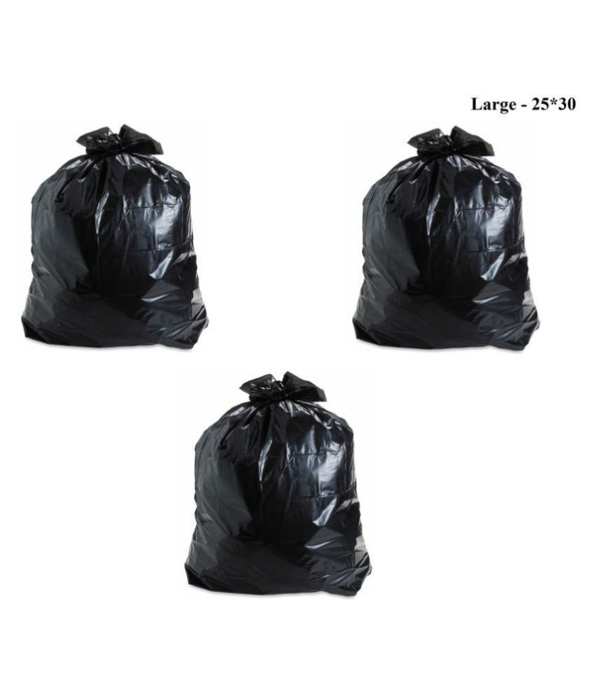 GARBAGE BAGS T1 Garbage Bag Dustbin Bag Black Size 19*21 Compostable/Biodegradable Garbage/Trash/Dustbin Bag For Home/Office/Industries & Many MultI Purposes (90 Pieces)