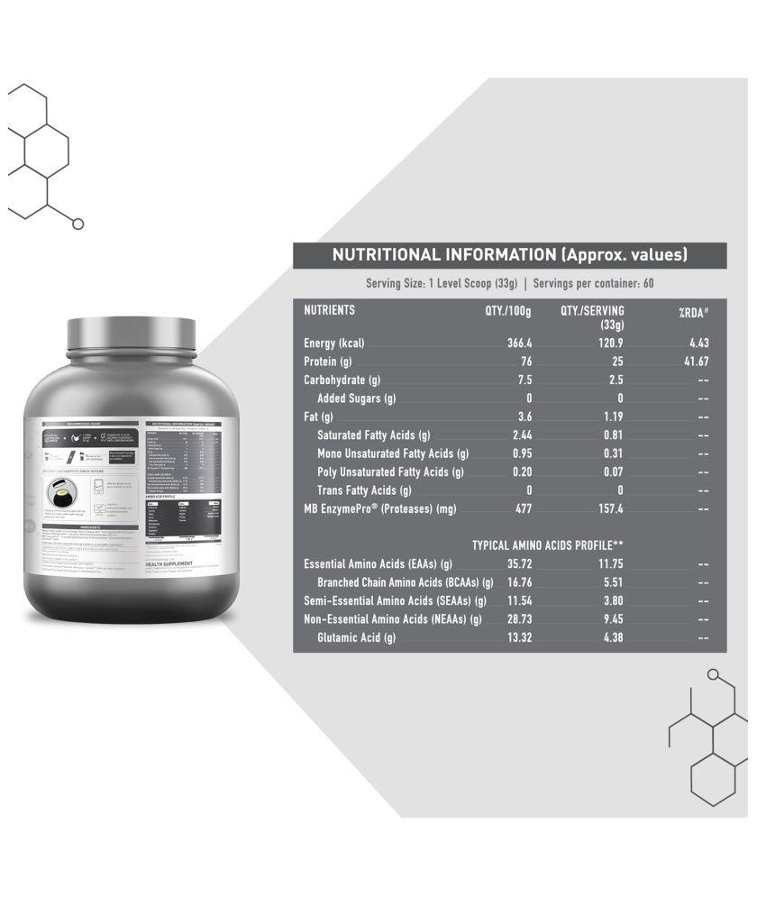 MuscleBlaze Biozyme Whey Protein (Ice Cream Chocolate) 2 kg