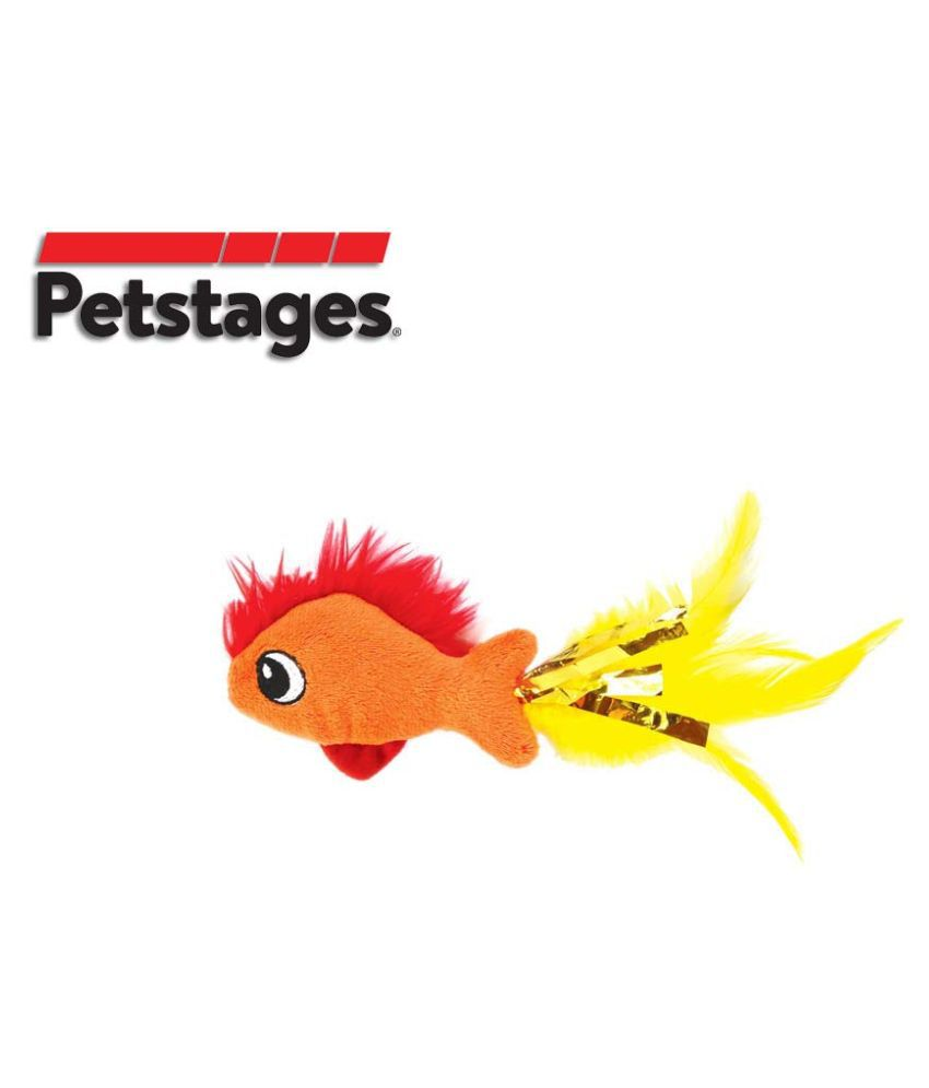 Petstages Feather Fish Toy For Cat
