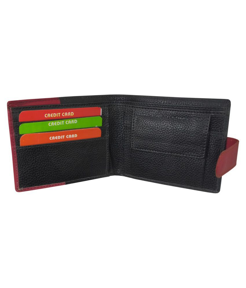 LYREM PU Black Formal Regular Wallet