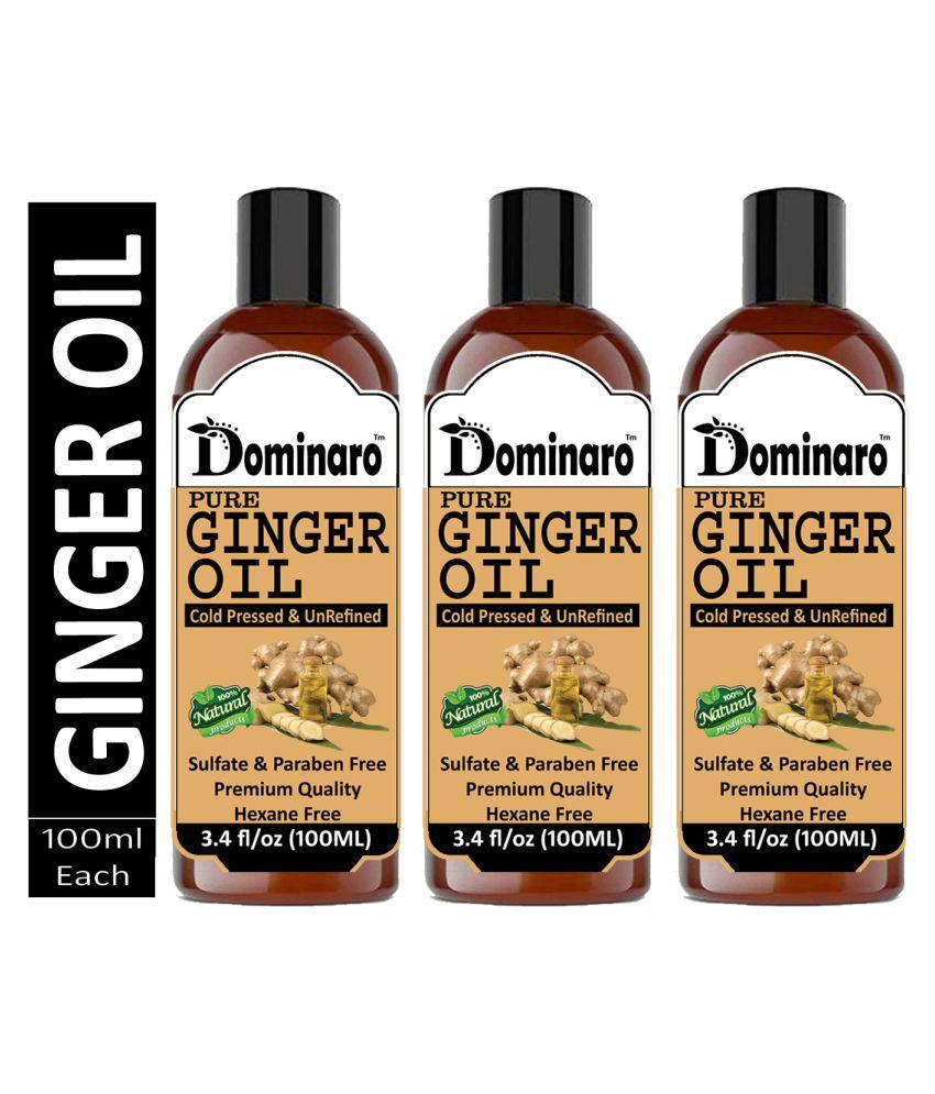 Dominaro Premium Ginger oil - Cold Pressed & Unrefined Oil 300 mL Pack of 3