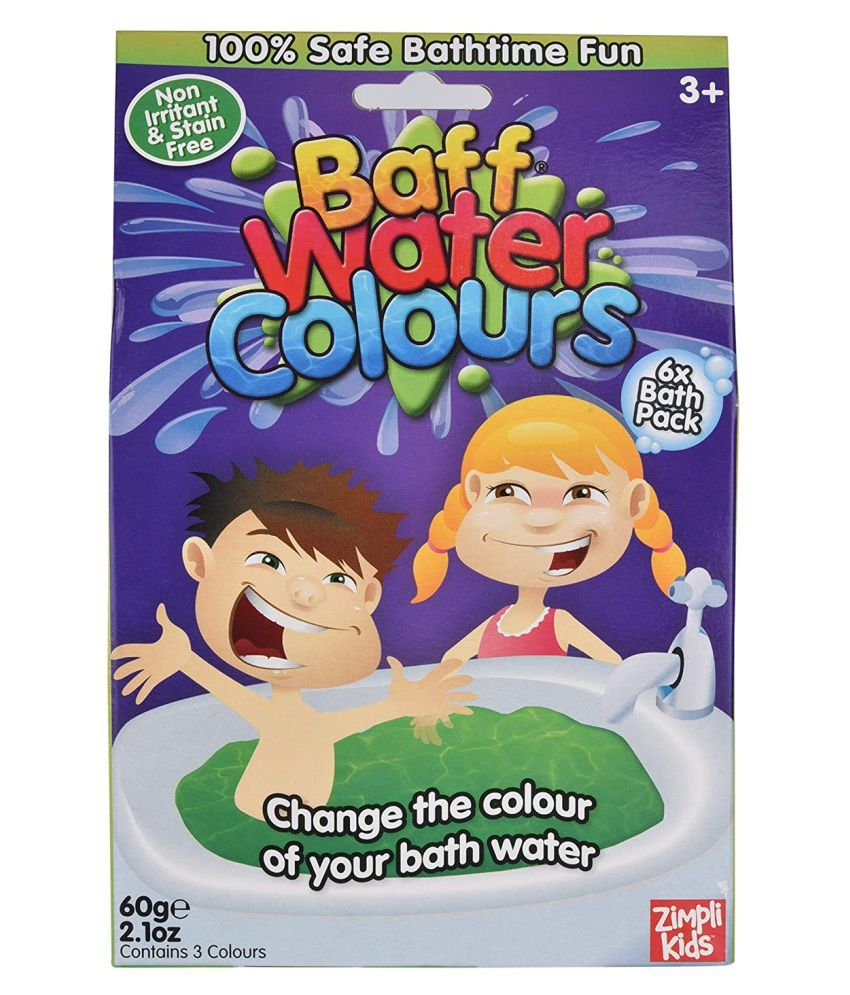 Simba BAFF WATER COLOURS, 6 BATH PACK 60 GRAMS Bath Toy (Multicolor)