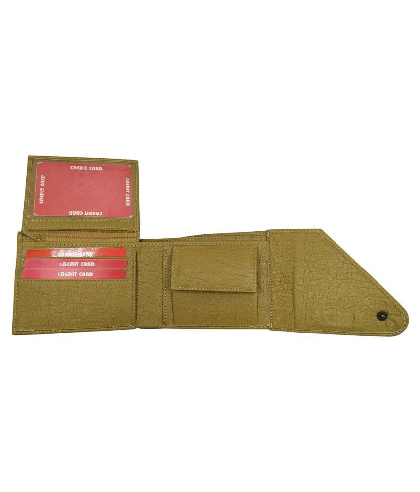 EBEZA Faux Leather Beige Formal Regular Wallet
