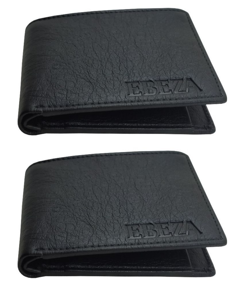 EBEZA Faux Leather Black Casual Regular Wallet