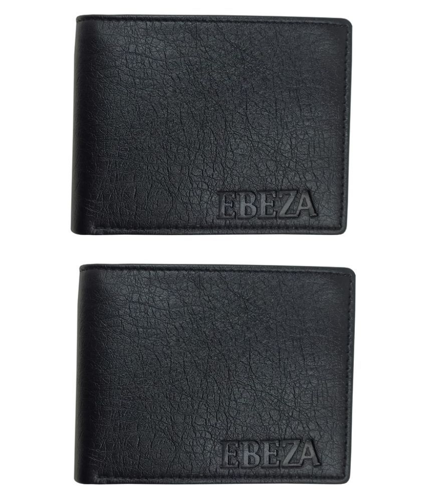 EBEZA PU Black Sport Regular Wallet