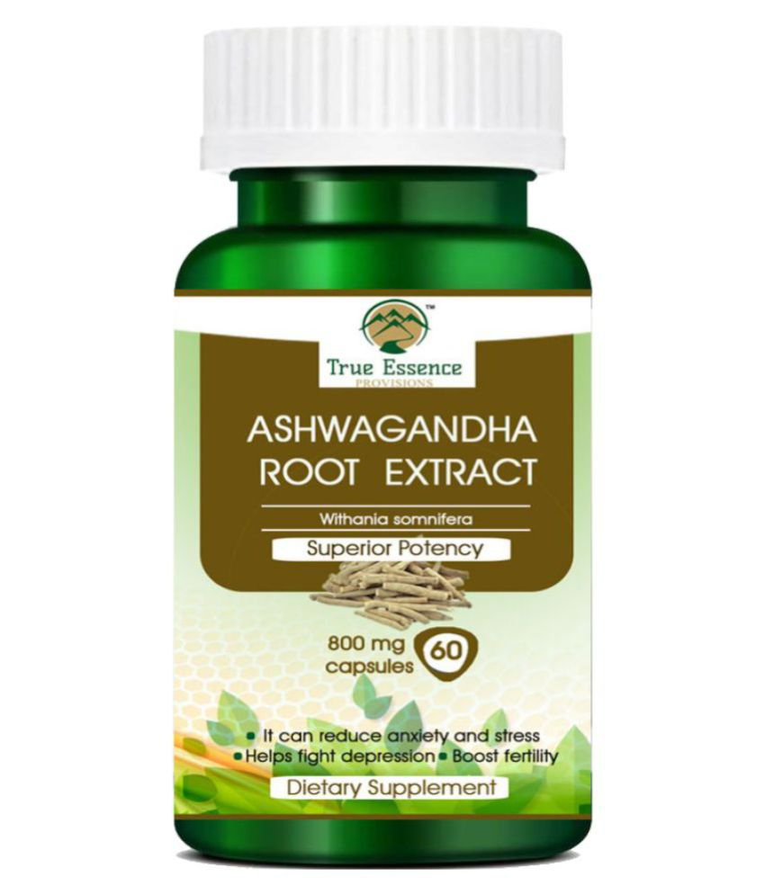 TRUE ESSENCE PROVISIONS ASHWAGANDHA ROOT EXTRACT  60 Capsule Capsule 70 gm Pack Of 1