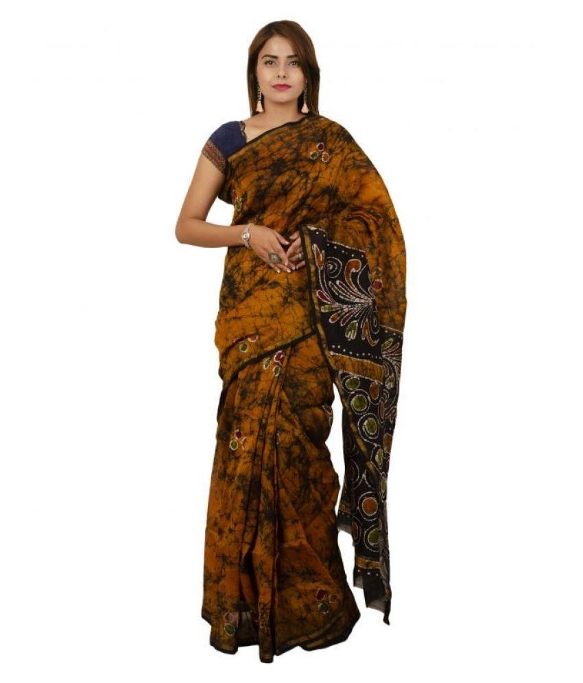 Tribes India Brown Art Silk Saree