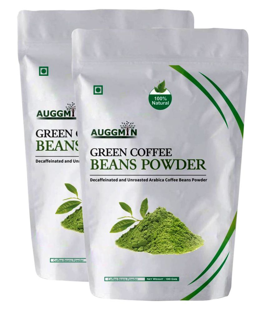 Auggmin Green Coffee Beans Powder 200 gm Natural Pack of 2