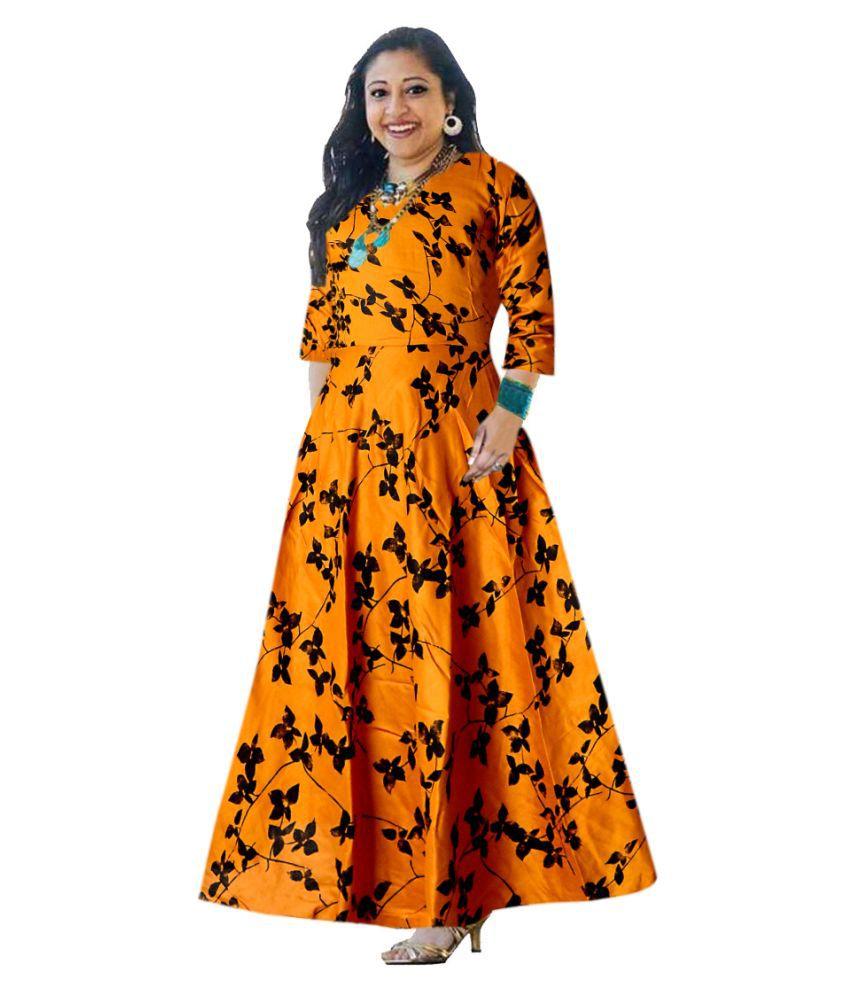 Trendy Fab Rayon Multi Color A- line Dress