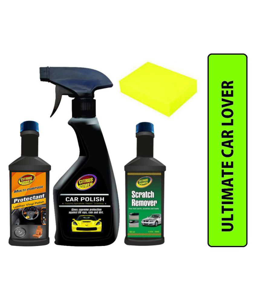 CITRUS POWER CAR INTERIOR AND EXTERIOR CAR LOVER KIT (PACK OF 4)
