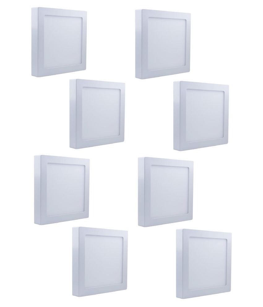 D'Mak Surface 18W Square Ceiling Light 21 cms. - Pack of 8