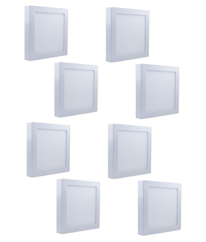 D'Mak Surface 22W Square Ceiling Light 21 cms. - Pack of 8