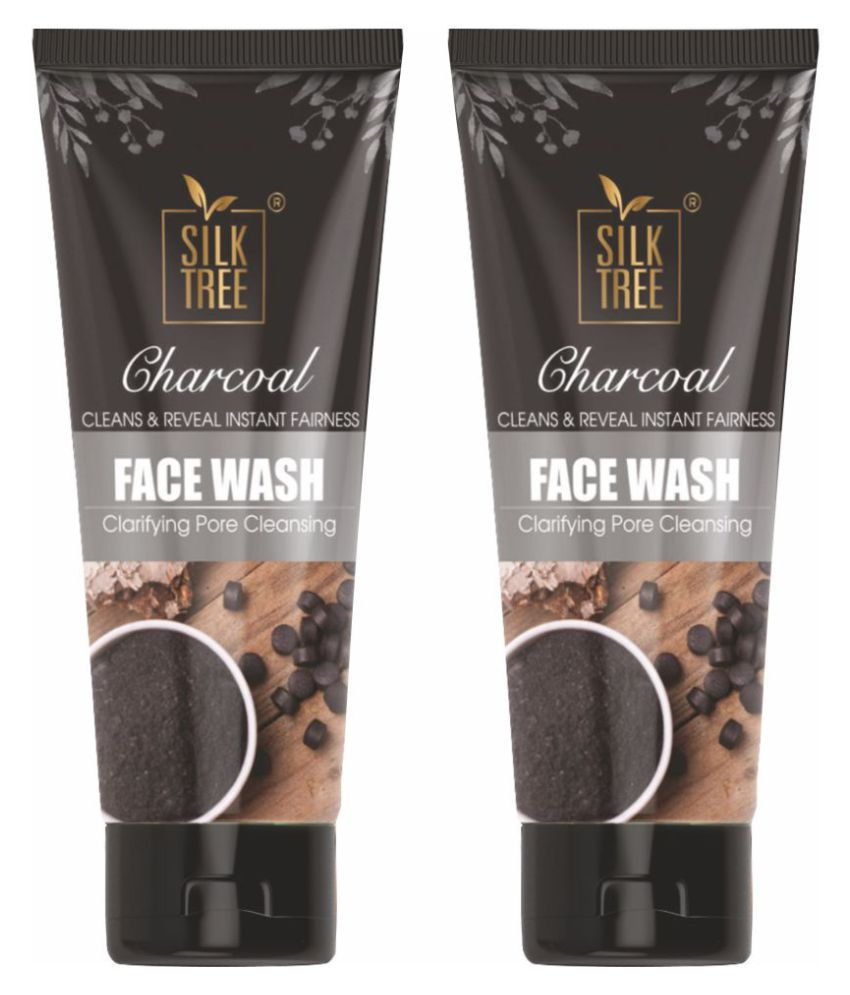 SILKTREE Charcoal Face Wash 100 mL Pack of 2