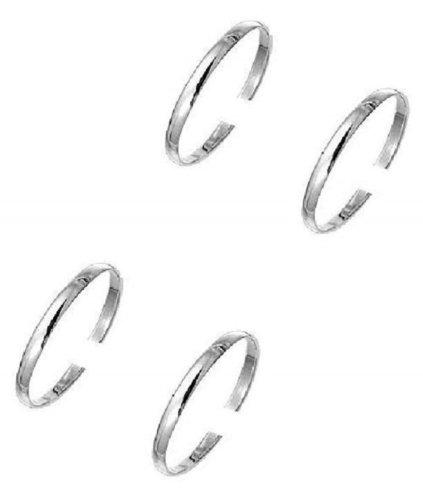 Toe Ring Sterling Silver Abstract Pattern Design Toe Ring Adjustable Jewelry for Women. Set of 2 PCS. (011)