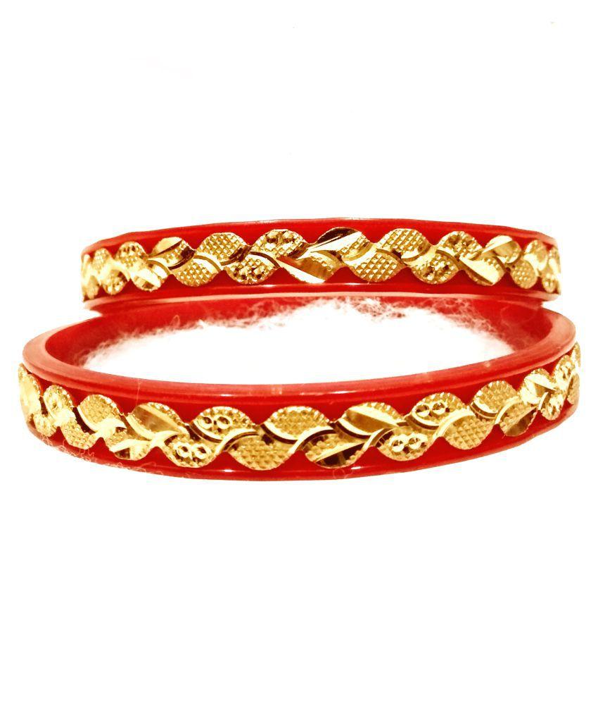 gold plated pola bangles 2089