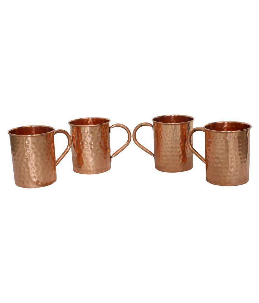 AMG Copper PLAIN Coffee Cup 4 Pcs 300 ml