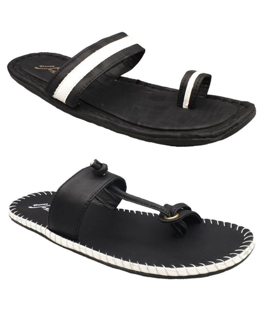 Pampy Angel Black Daily Slippers