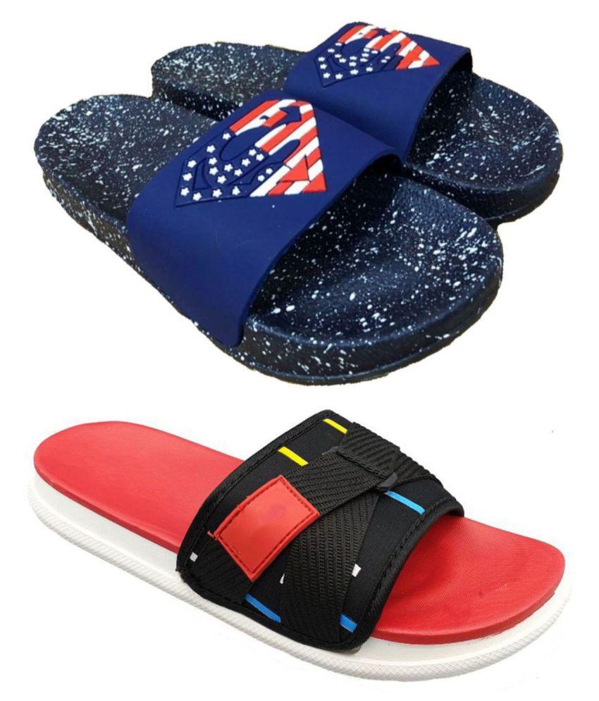 Pampy Angel Multi Color Slide Flip flop