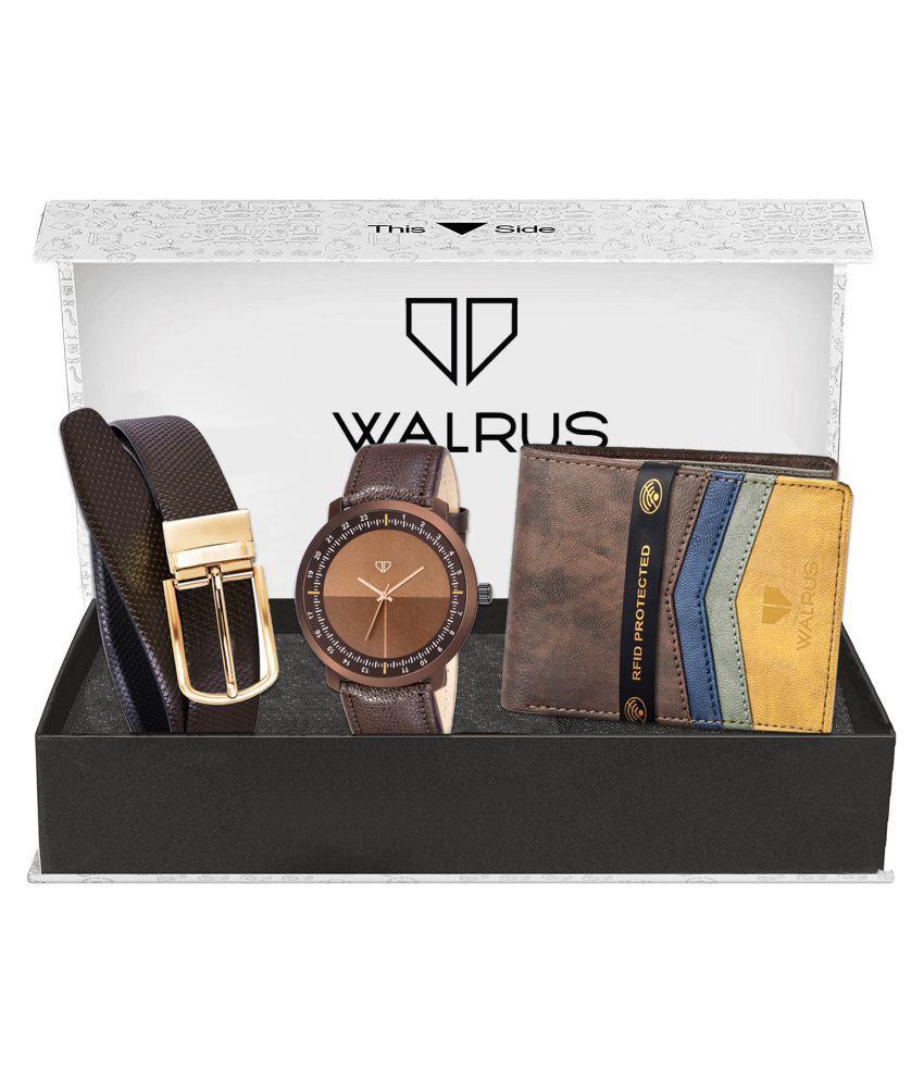 Walrus WWWBC COMBO52 Leather Analog Men #039;s Watch
