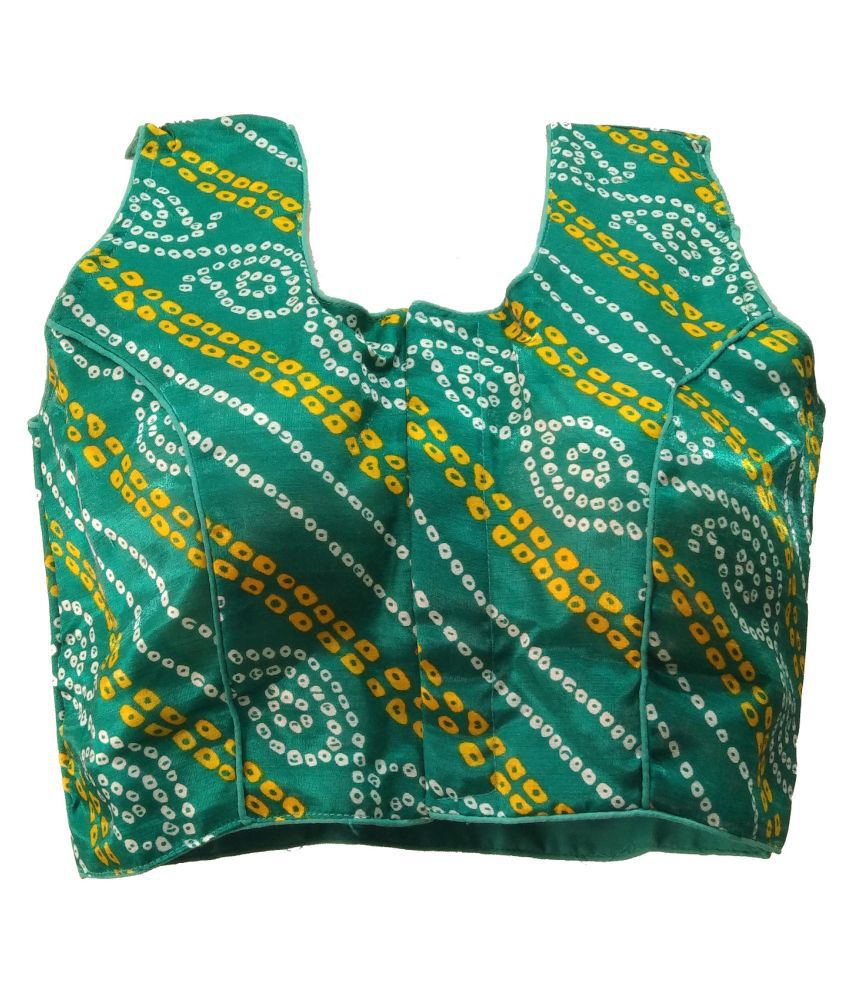Comfort Collection Green Art Silk Readymade with Pad Blouse