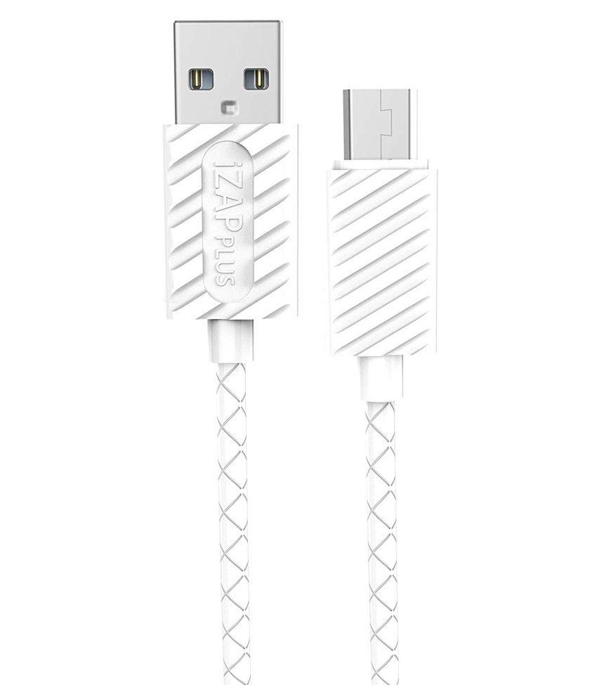 iZAP USB Data Cable White   1 Meter