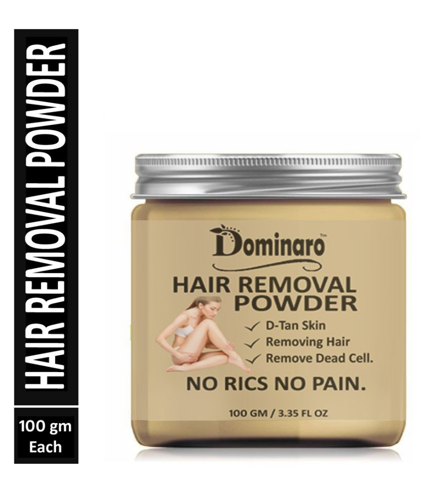 Dominaro Pure & Natural Hair Removal Powder For Powder Hair Removal Powder D-Tan  Skin, Removing hair,  Remove dead cell 100 g