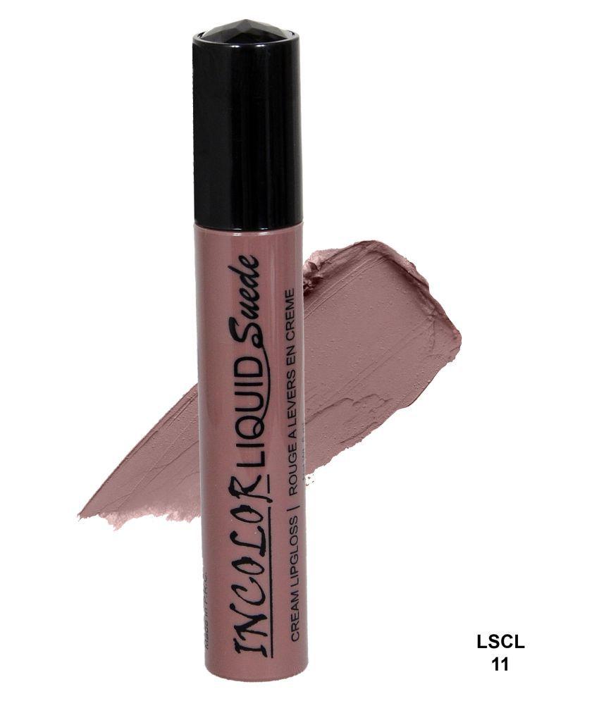 Incolor Lip Gloss Liquid Brown 6 mL