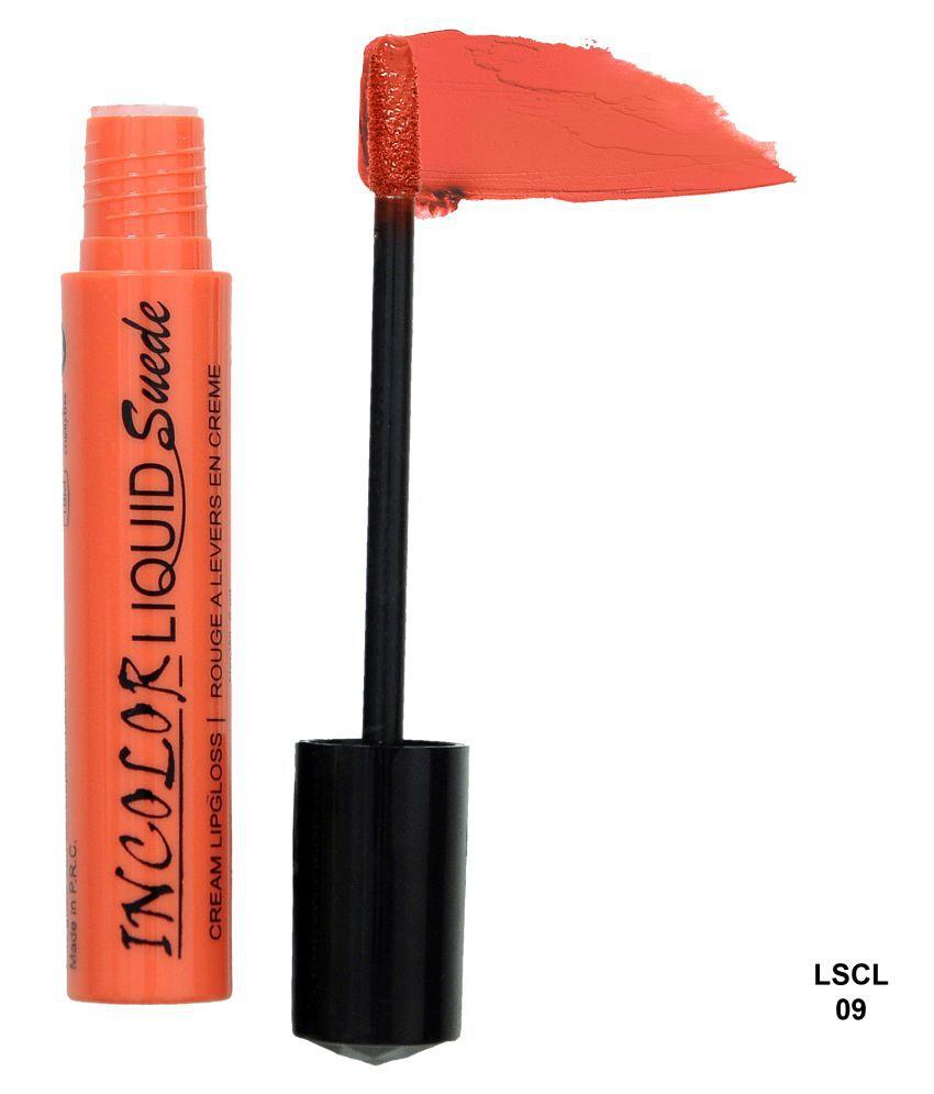 Incolor Lip Gloss Liquid Orange 6 mL