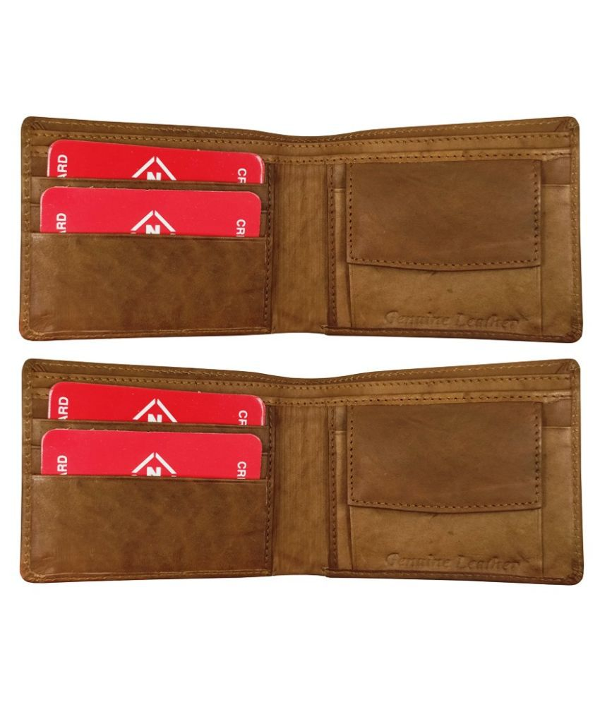 Nexa Fashion Leather Brown Sport Regular Wallet
