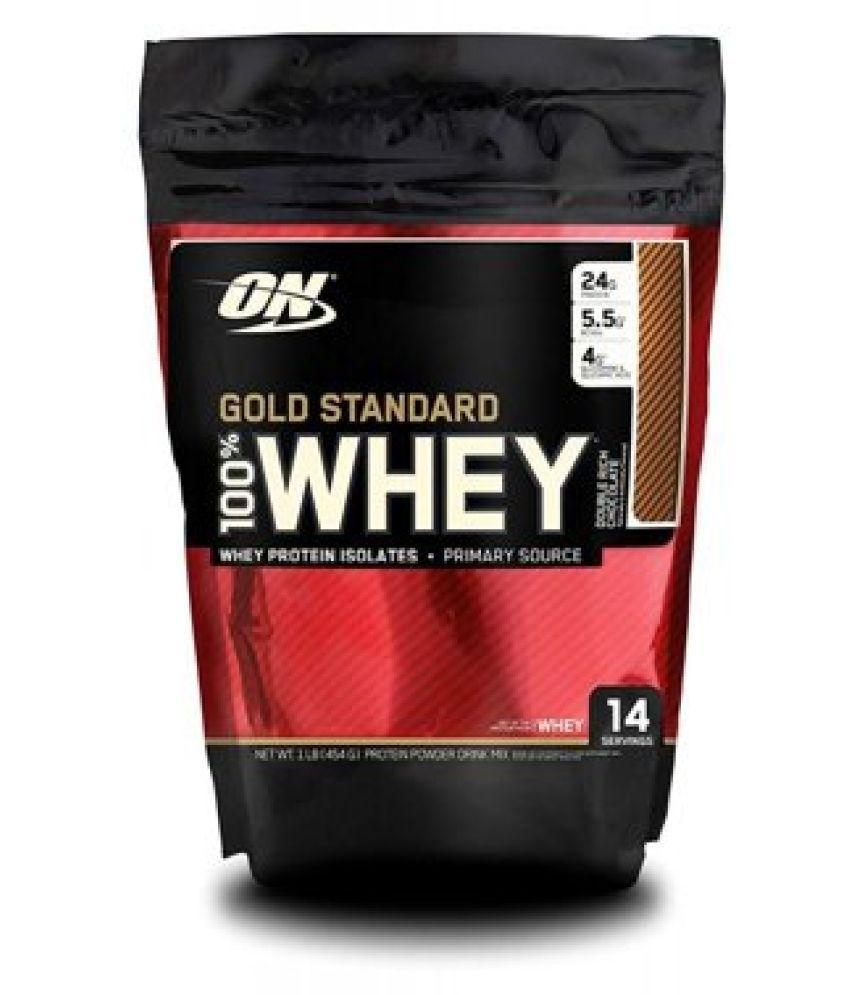 on gold standard whey 100% Protein Powder 454 gm 1 lb