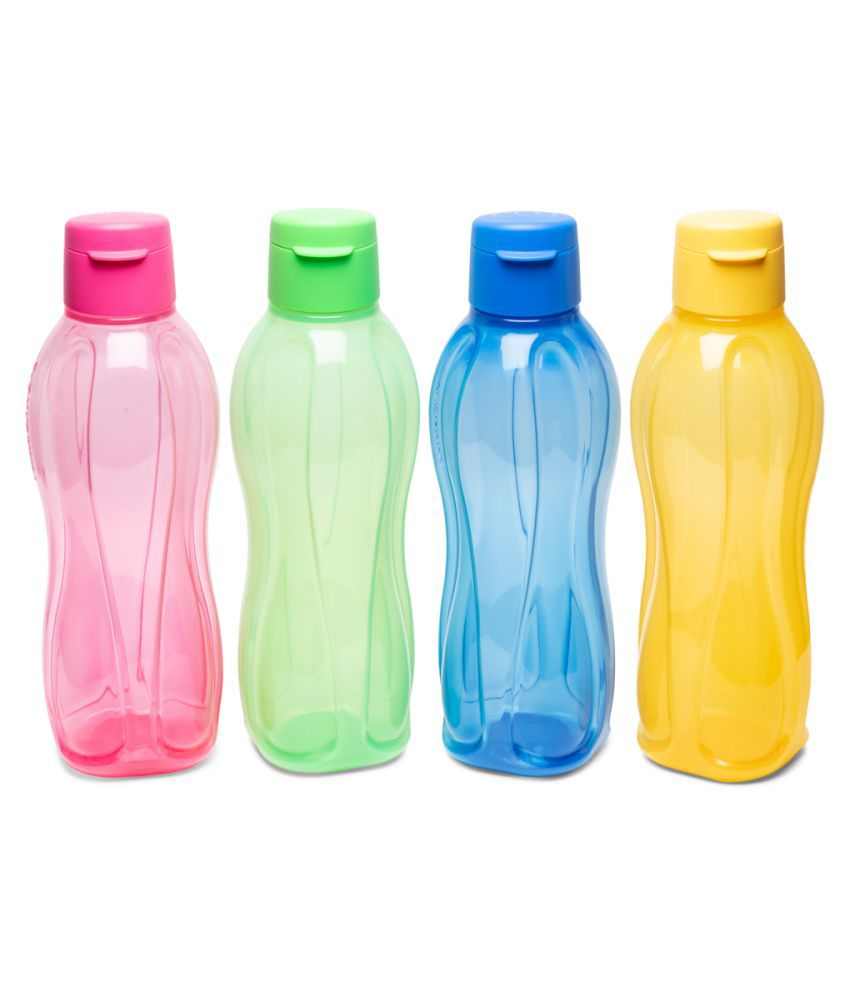 Tupperware Fliptop Plastic Bottle Set, 1 Litre, Set of 4