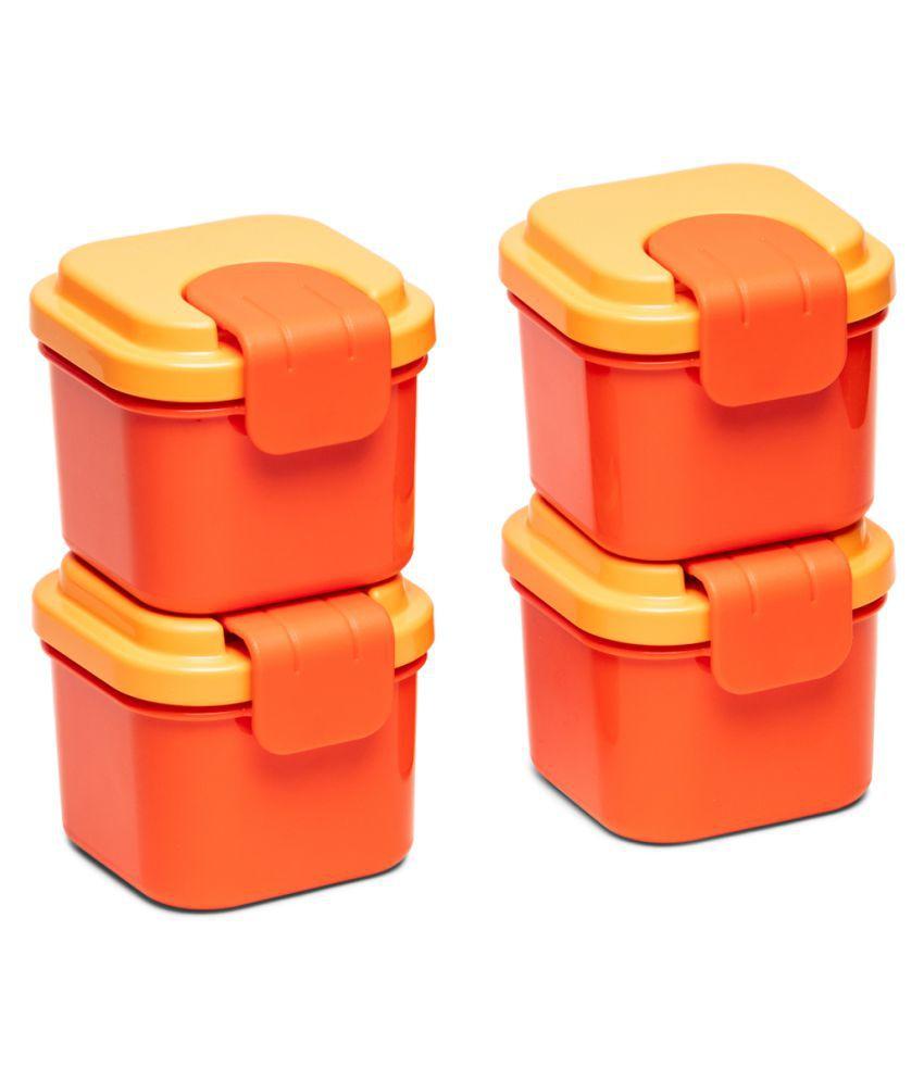 Tupperware Plastic Snack Box Klik Klak Small Container 250ml 4pc