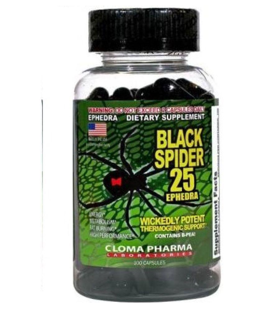 Champs Nutrition CLOMA PHARMA Black Spider 100 caps  (100 No) 100 gm Fat Burner Capsule