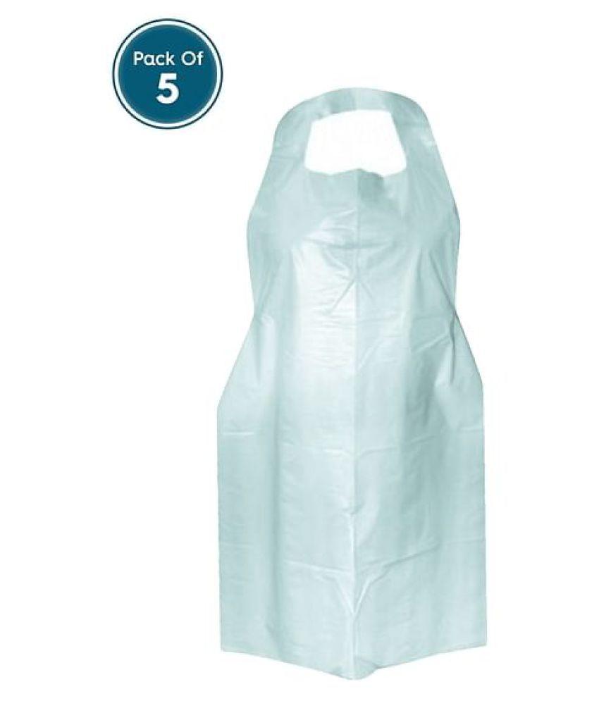 Clovia Disposable Plastic Apron - Pack Of 5 Staff Top LXL
