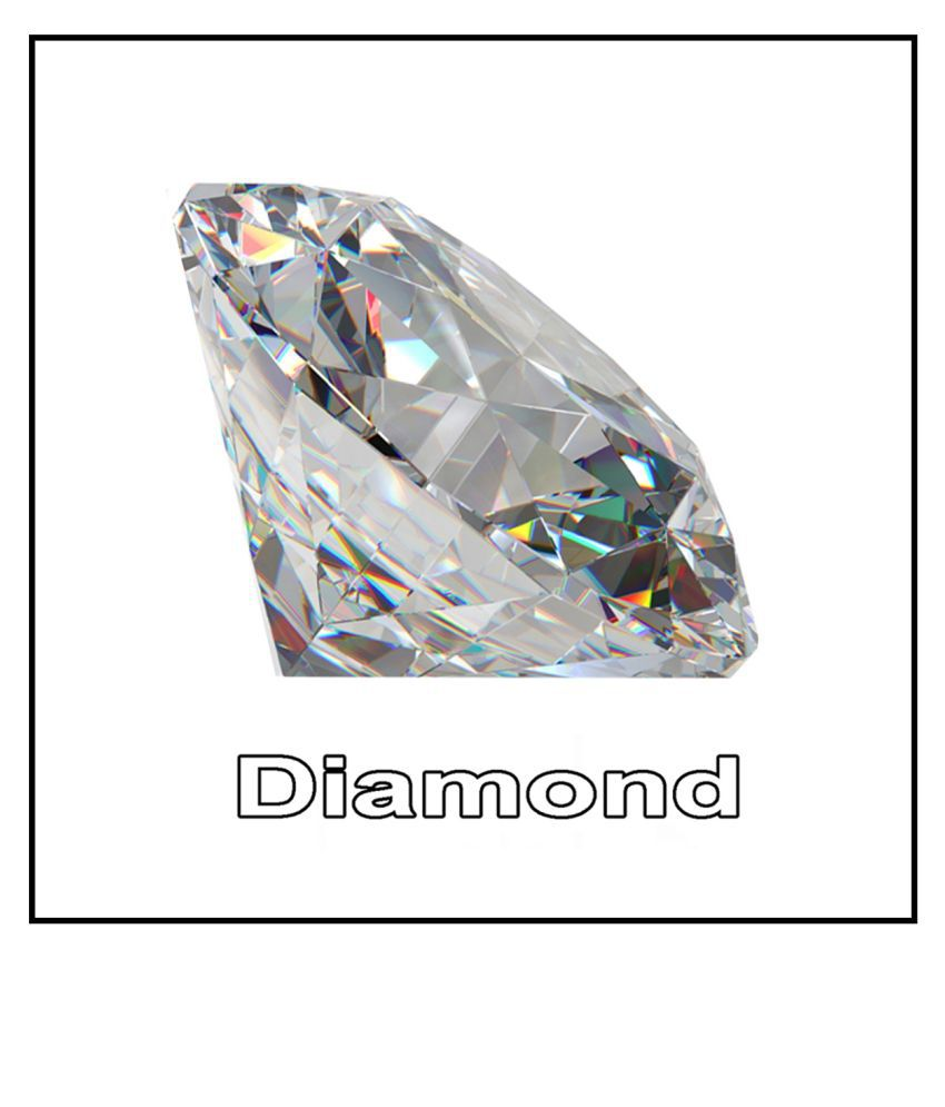 R.K Gems/Fine Quality 6.20-Carat White American Diamond