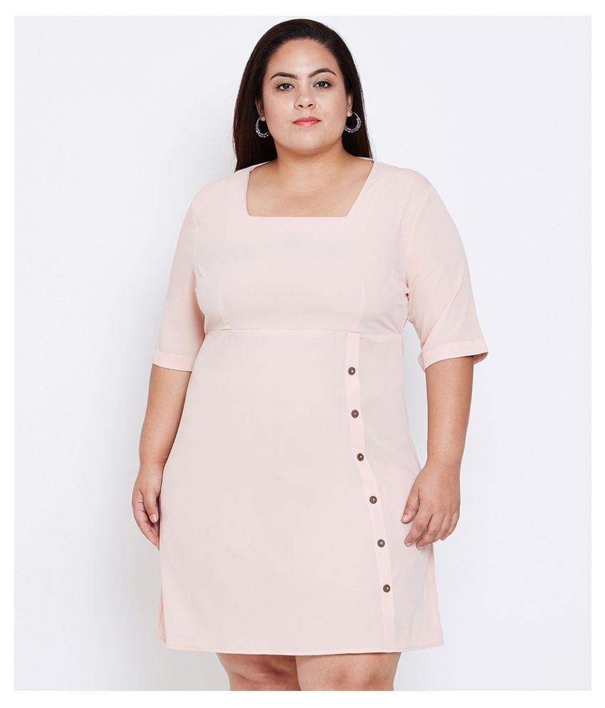 Oxolloxo Polyester Pink A- line Dress