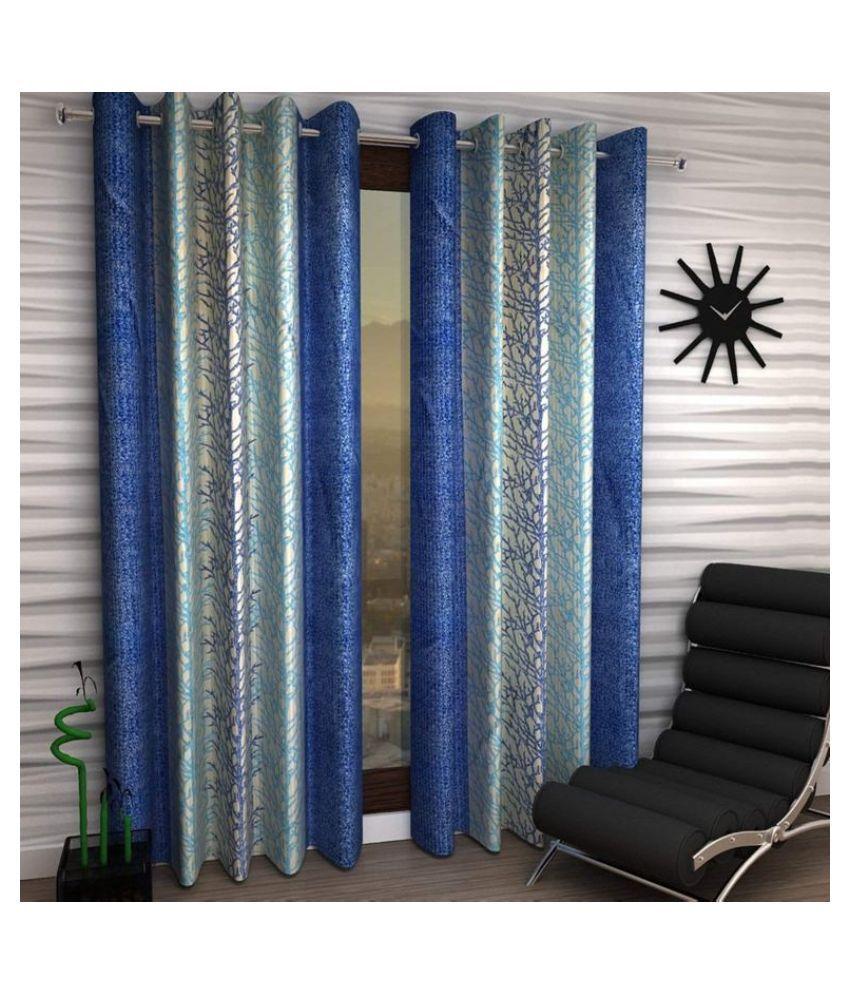 M.V HOMES Single Door Semi-Transparent Eyelet Polyester Curtains Maroon