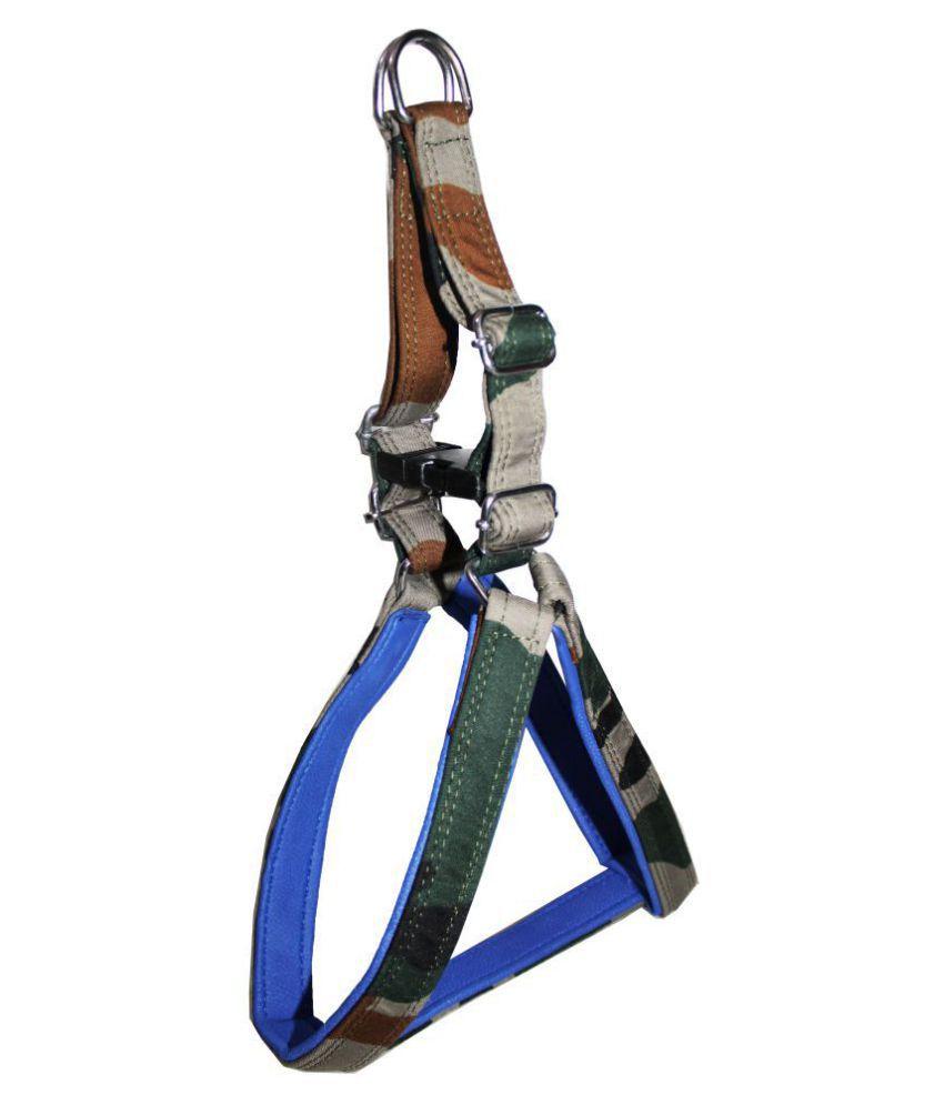 Petshop7  Premium Quality Army Print Padded  Dog Harness  0.75 inch - Medium (Chest Size - 23 - 28inch)