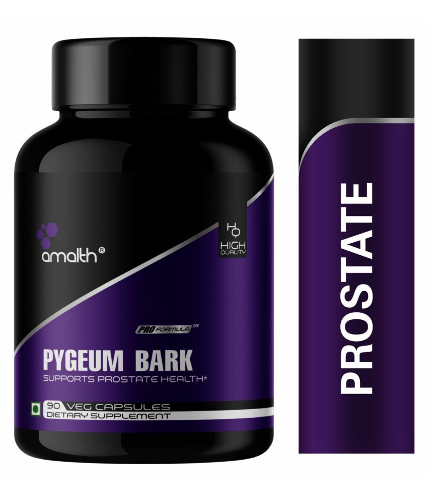 Amalth Pygeum Bark Extract for Prostate Health, Stamina Capsule 100 mg