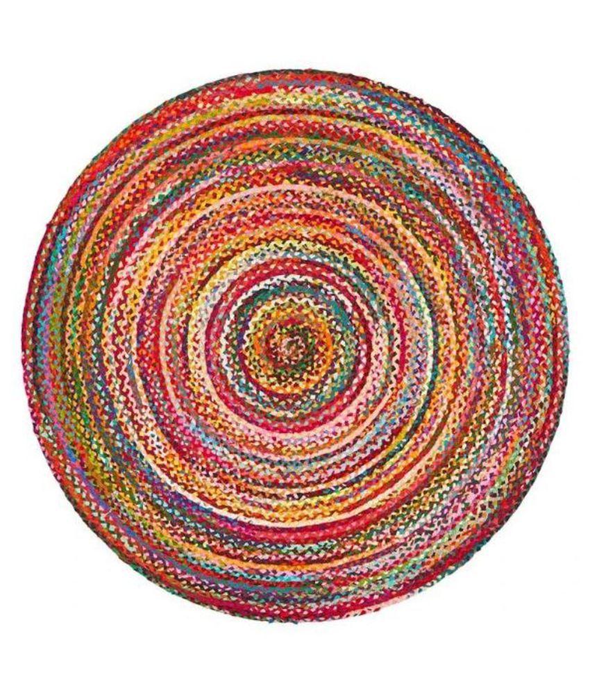 PRINT Multi Jute Carpet Plain Other Sizes Ft